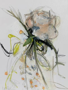 Bloom and Berries by Kelley B. Ogburn, Mixed Media on Canvas Floral Painting