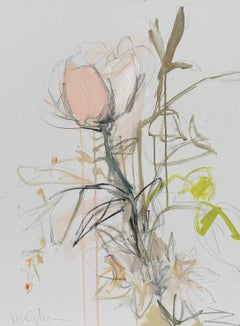 Collected by Kelley B. Ogburn, Mixed Media on Canvas Floral Painting