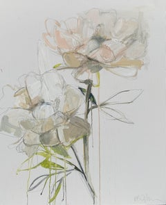 The Pair by Kelley B. Ogburn, Mixed Media on Canvas Floral Painting