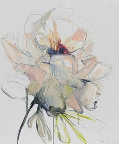 The Stem by Kelley B. Ogburn, Mixed Media on Canvas Floral Painting