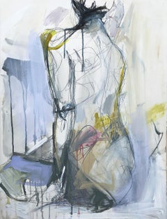 Amiss by Kelley Ogburn Vertical Contemporary Figurative Painting on Paper
