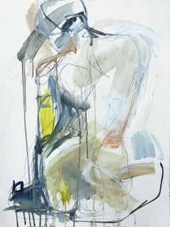 Come What May Kelley Ogburn Vertical Contemporary Figurative Painting on Paper