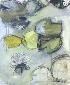 En Passe, Kelley Oburn, Medium Vertical Abstract Botanical Painting