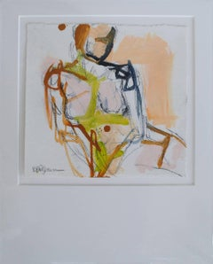 Figure #18, Petite Nude Painting on Paper