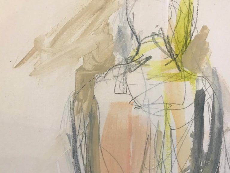 Gratitude, Kelley Ogburn 2018 Petite Vertical Nude Painting on Paper For Sale 3