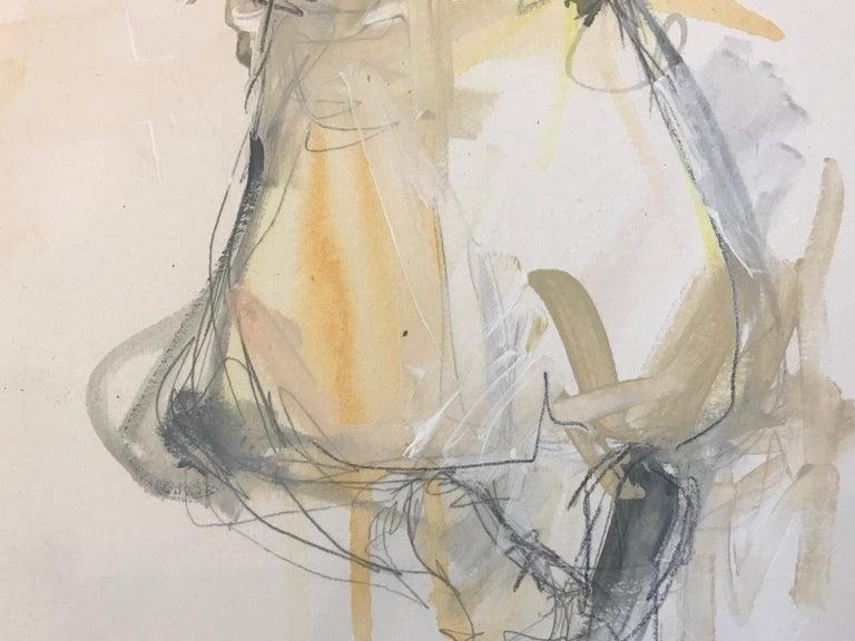Gratitude, Kelley Ogburn 2018 Petite Vertical Nude Painting on Paper For Sale 4