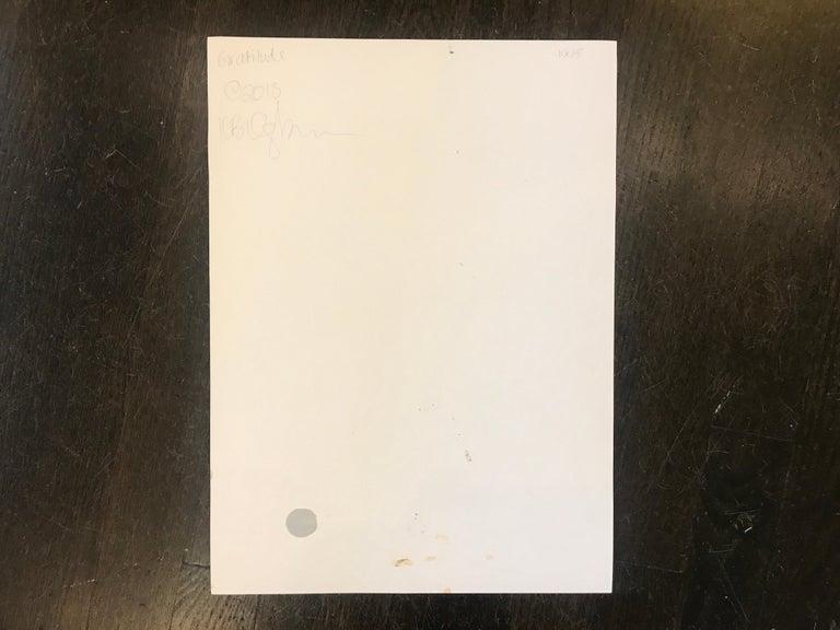 Gratitude, Kelley Ogburn 2018 Petite Vertical Nude Painting on Paper For Sale 5