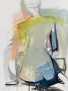 Present by Kelley Ogburn, Mixed Media Abstracted Nude Painting