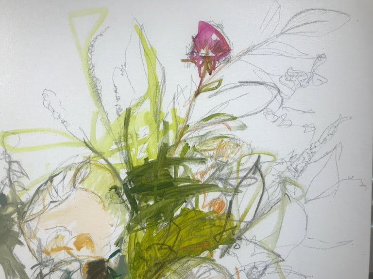 Revolution by Kelley Ogburn, Abstracted Floral Mixed Media on Canvas Painting For Sale 3
