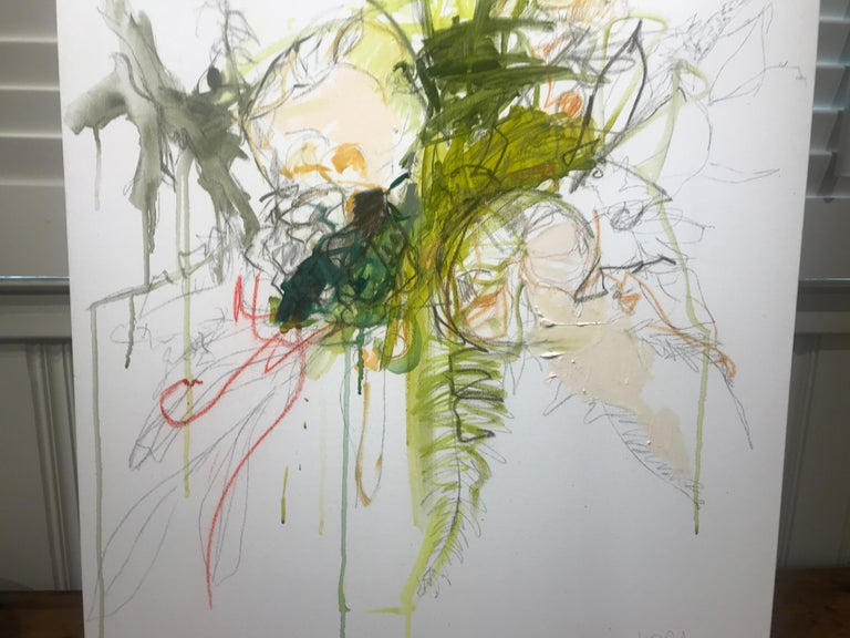 Revolution by Kelley Ogburn, Abstracted Floral Mixed Media on Canvas Painting For Sale 4