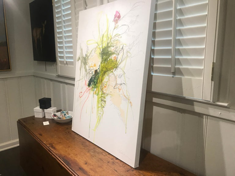 Revolution by Kelley Ogburn, Abstracted Floral Mixed Media on Canvas Painting For Sale 5