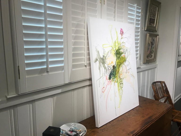 Revolution by Kelley Ogburn, Abstracted Floral Mixed Media on Canvas Painting For Sale 6
