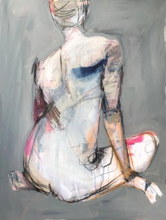 Still by Kelley Ogburn, Mixed Media Vertical Contemporary Nude Painting