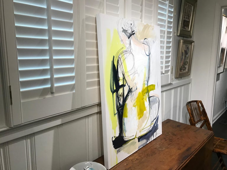 Tuck by Kelley Ogburn, Mixed Media on Canvas Vertical Abstract Nude Painting For Sale 7