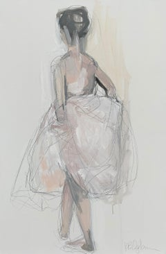 Tulle by Kelley Ogburn Medium Vertical Ballerina Painting on Canavas