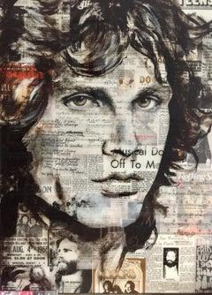Jim Morrison, Painting, Acrylic on Wood Panel