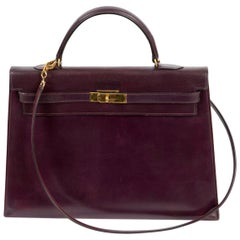Kelly 35cm Hermes Cherry Boxcalf