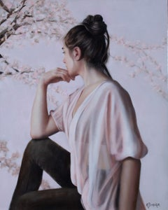 """""""Lost in Thought"""" Oil Painting"""