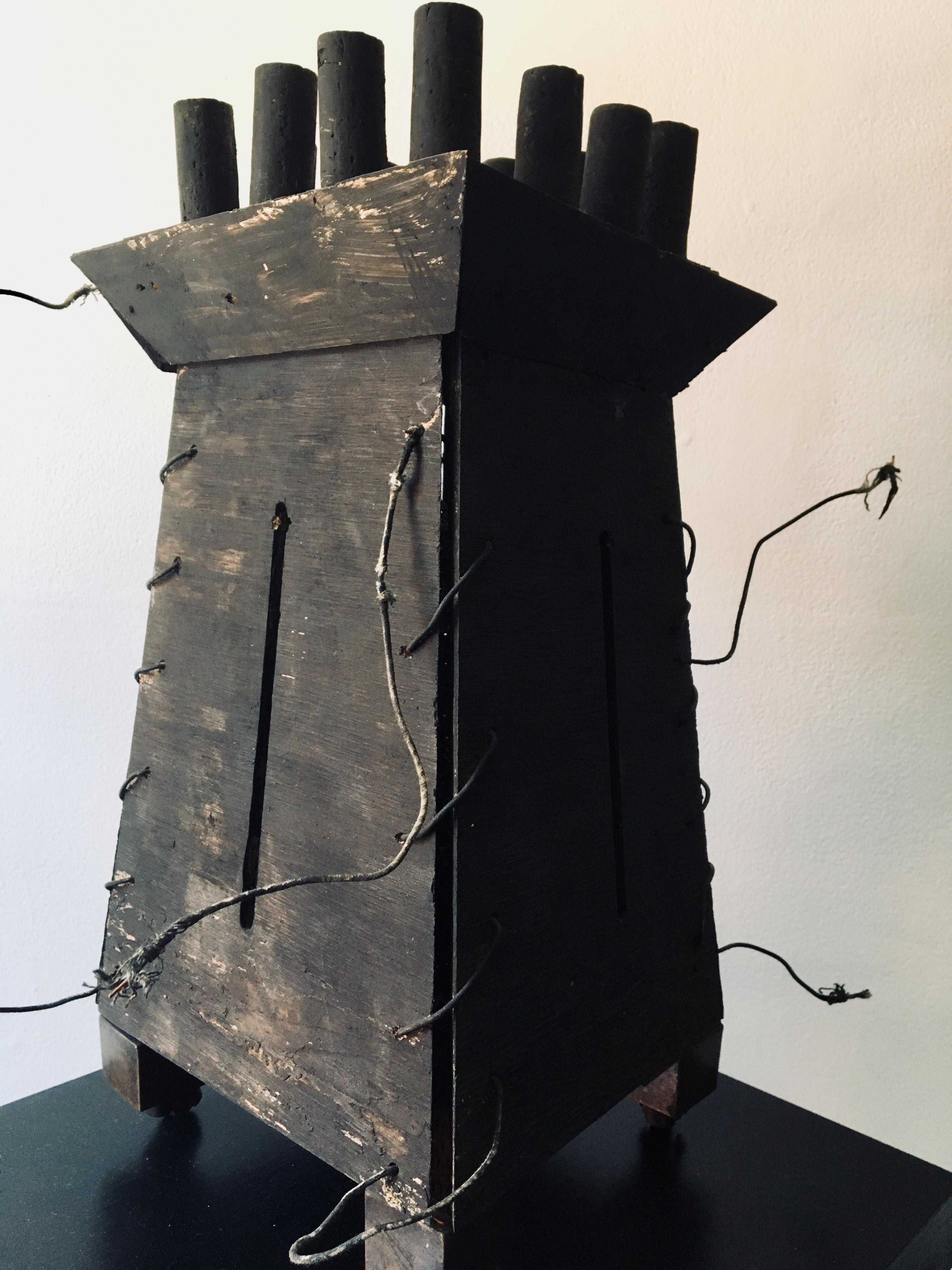 """Abstract wood Sculpture: """"Fortress'"""