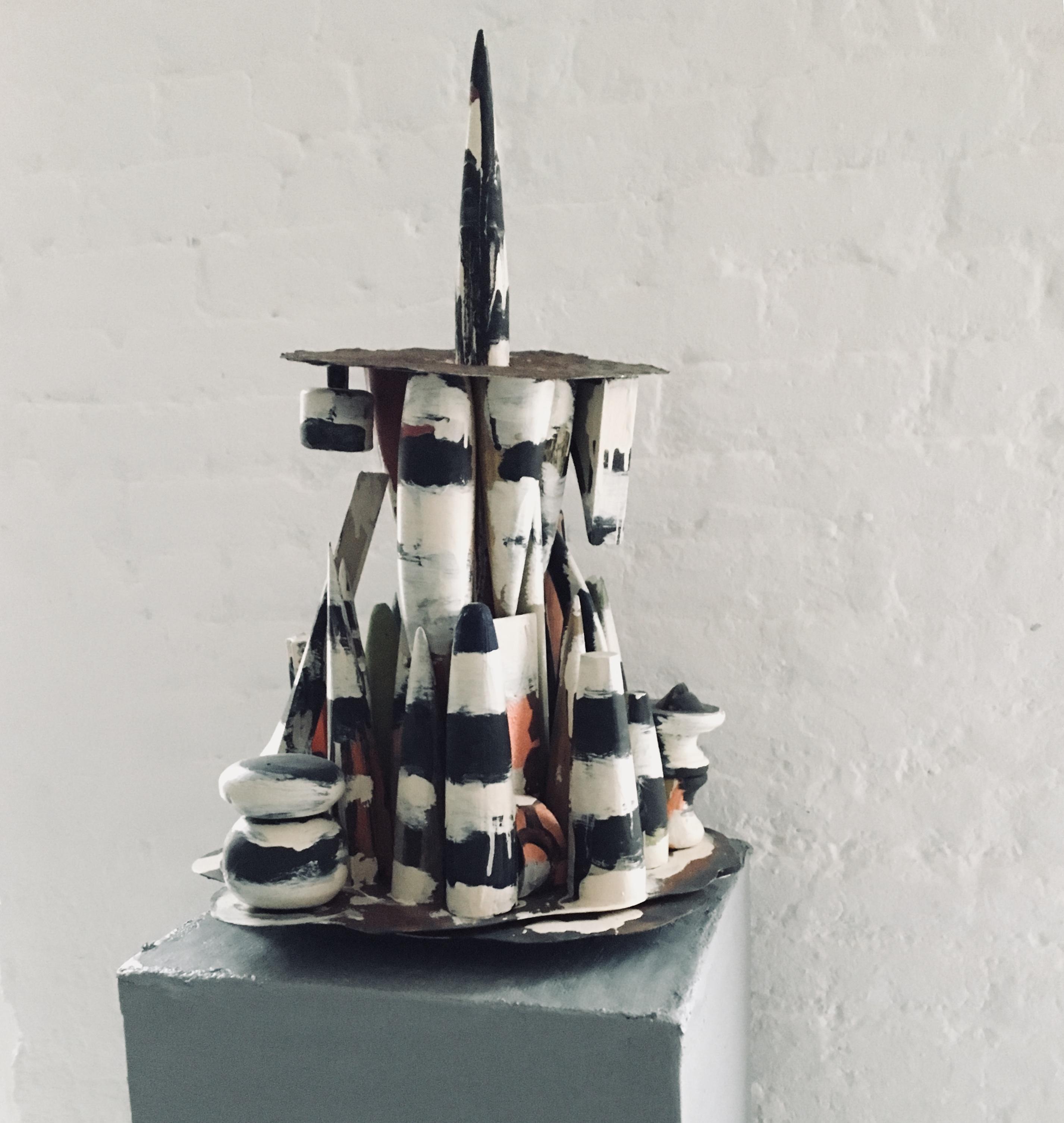Abstract wood Sculpture: 'Horn'