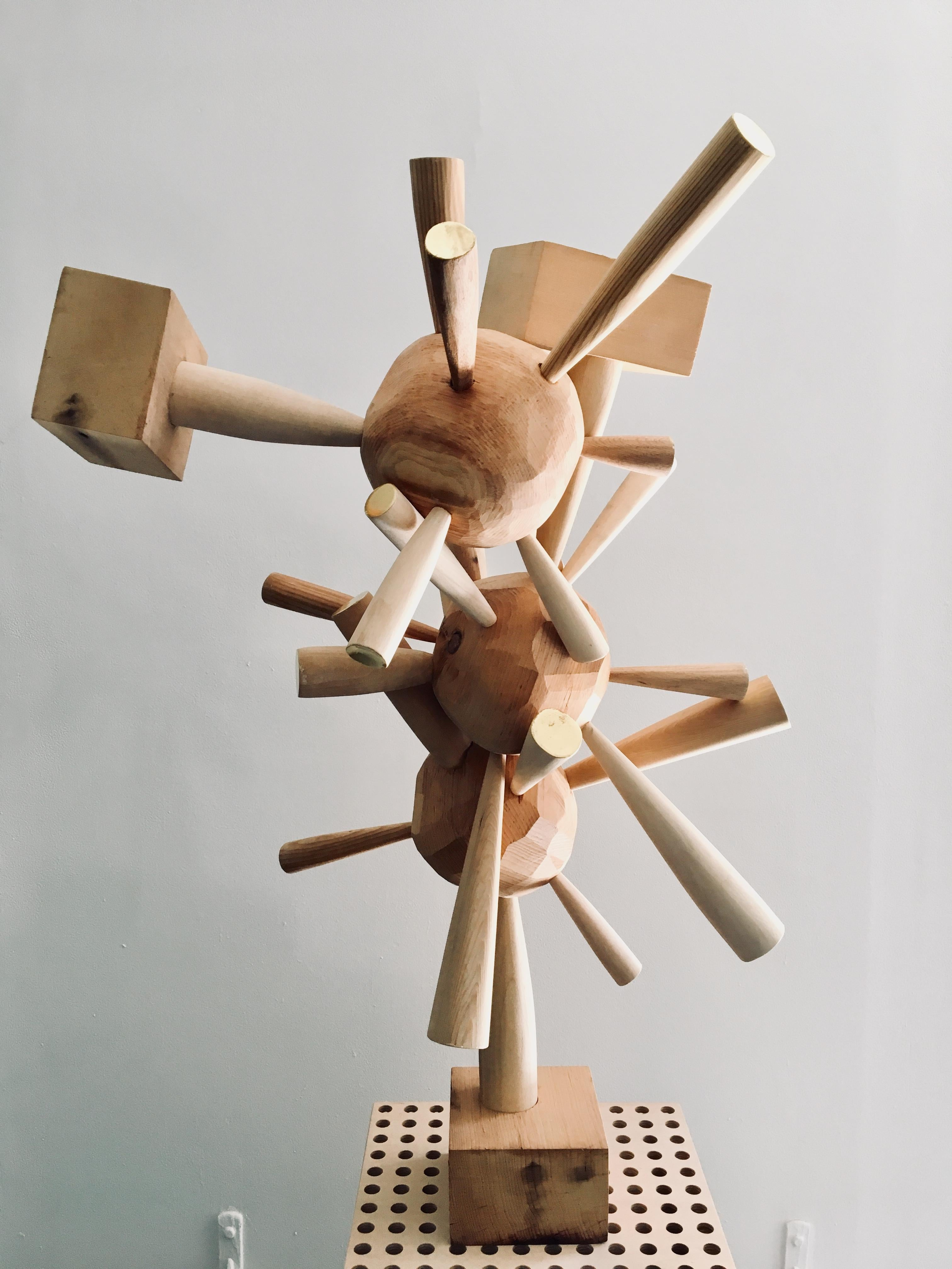 """Abstract wood Sculpture: """"Untitled"""""""