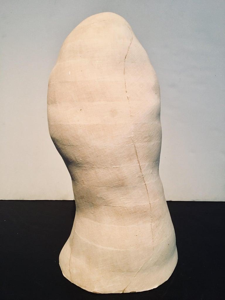 Abstract Head Sculpture: 'Untitled' - Brown Figurative Sculpture by Kelly Bugden + Van Wifvat