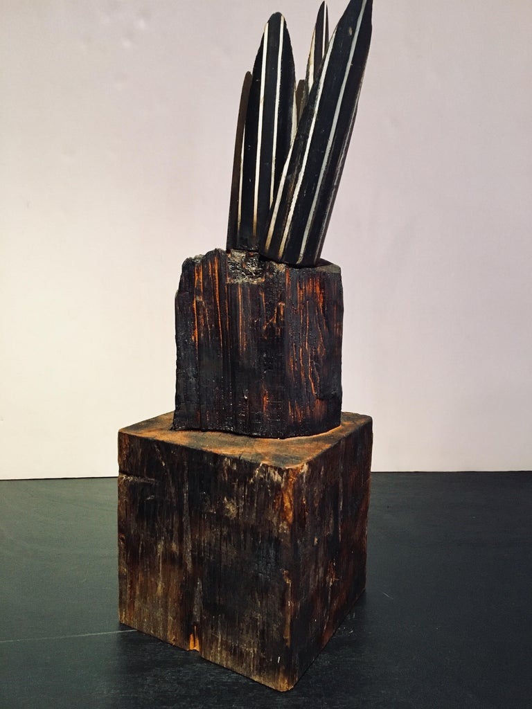 Abstract wood Sculpture: 'Plant' For Sale 2