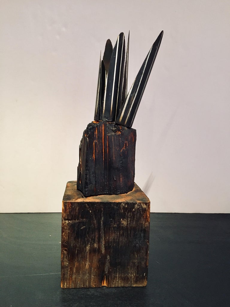 Abstract wood Sculpture: 'Plant' For Sale 3