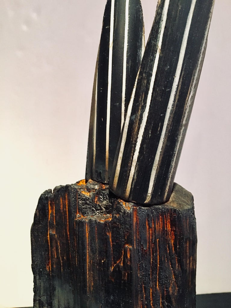 Abstract wood Sculpture: 'Plant' For Sale 4