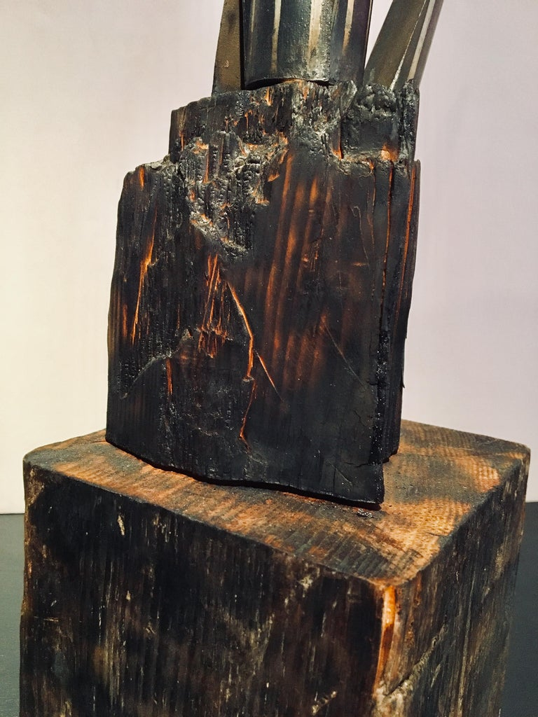 Abstract wood Sculpture: 'Plant' For Sale 5