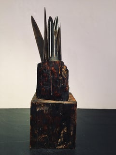 Abstract wood Sculpture: 'Plant'