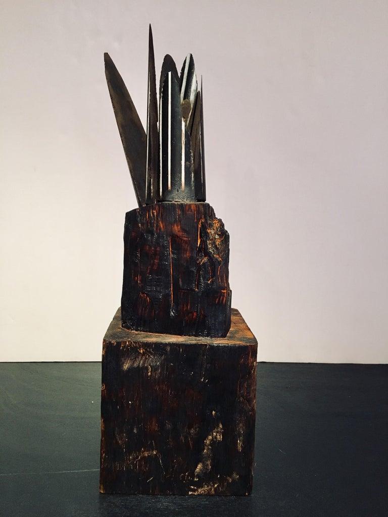Kelly Bugden + Van Wifvat Still-Life Sculpture - Abstract wood Sculpture: 'Plant'