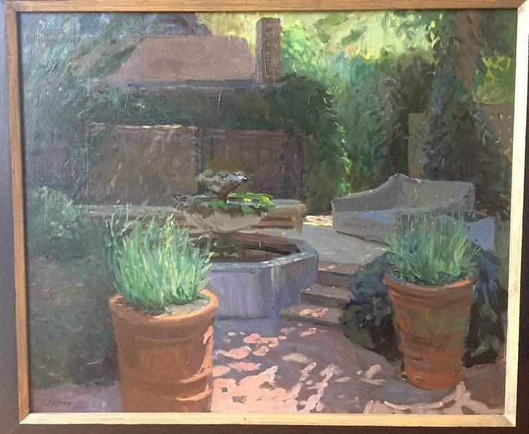 Blooms Garden - American Impressionist Painting by Kelly Carmody