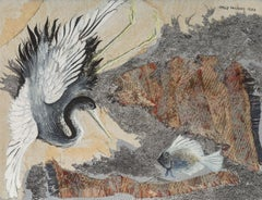 """""""Bird Collage #2"""" Mixed media collage by Kelly Fearing, 1959"""