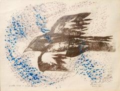 Silver Bird in Blue Wind