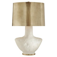 Kelly Wearstler Armato Small Table Lamp Porous White with Brass Shade