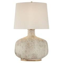 Kelly Wearstler Beton Large Table Lamp in Antique White with Linen Shade