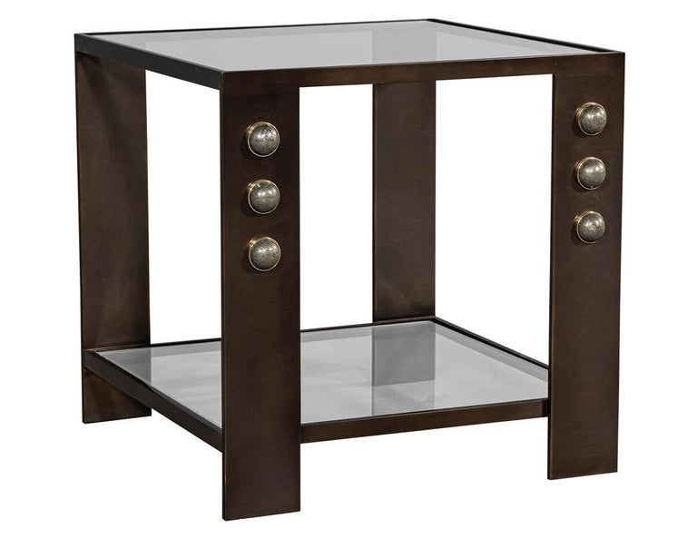 Contemporary Kelly Wearstler Griffith Side Table For Sale