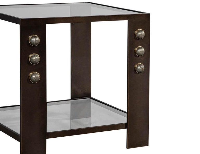 Bronze Kelly Wearstler Griffith Side Table For Sale