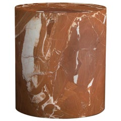 Kelly Wearstler Monolith Side Table in Russo Red Marble