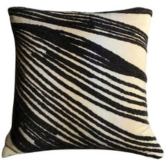 Kelly Wearstler White Black Grey Cotton Pillow, California