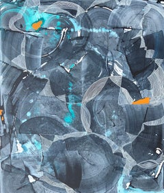 """Contemporary Abstract Expressionist Painting, """"All Things Swim And Glitter"""""""