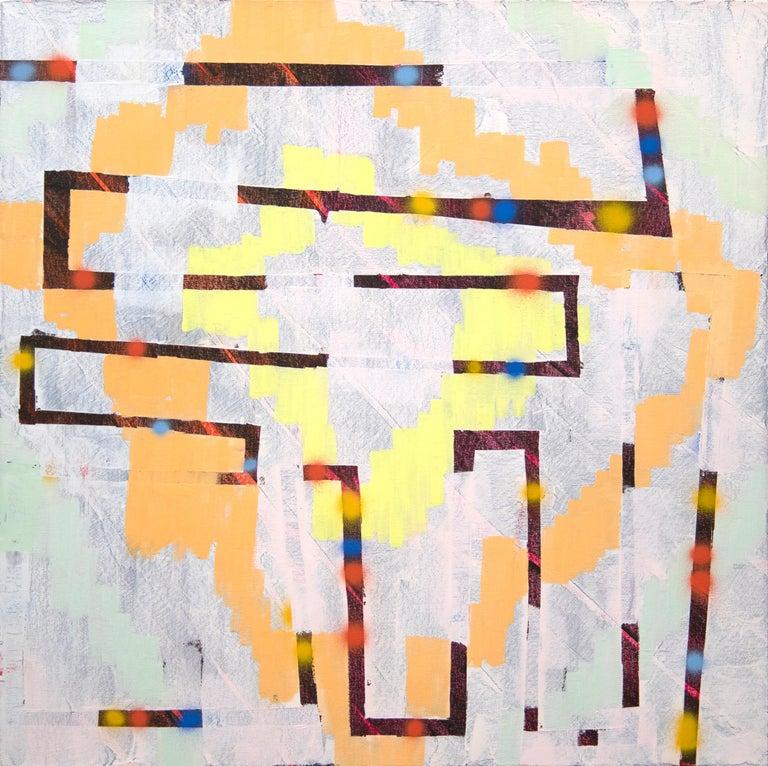 Keltie Ferris Abstract Painting - Untitled
