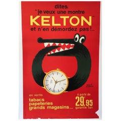 Kelton Watch by Herve Morvan Original Vintage Poster