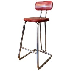 KEM Weber Counter Height Chrome Stool