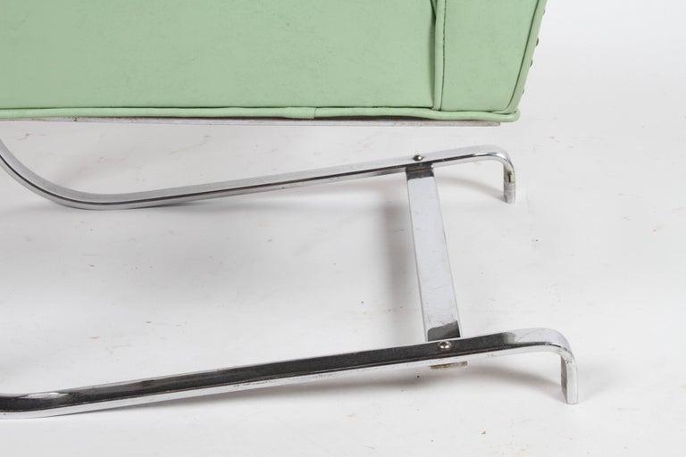 KEM Weber for Lloyd Art Deco Springer Lounge Chair For Sale 3