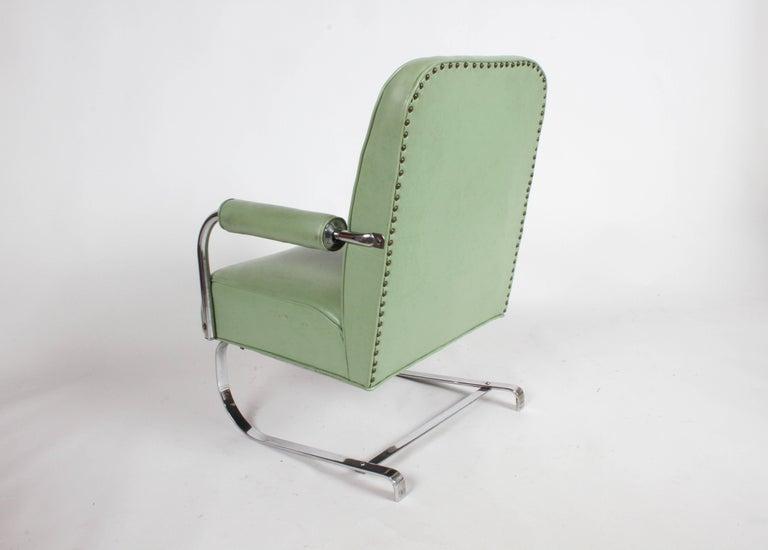 KEM Weber for Lloyd Art Deco Springer Lounge Chair For Sale 4