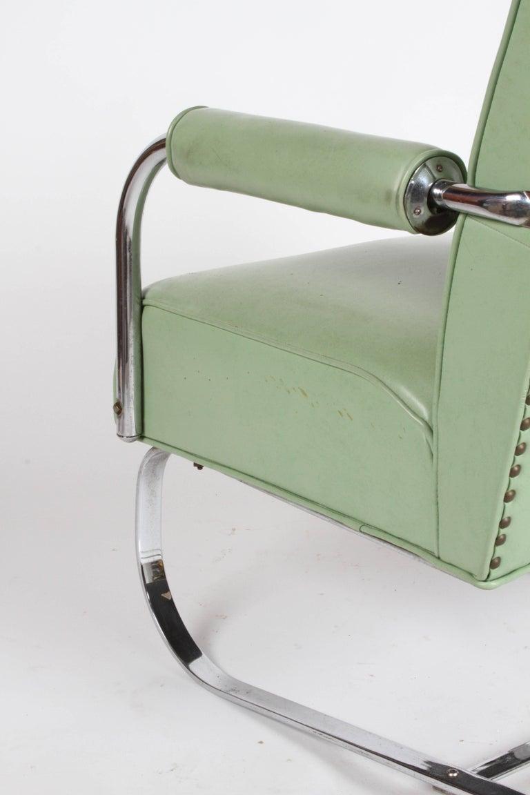 KEM Weber for Lloyd Art Deco Springer Lounge Chair For Sale 5