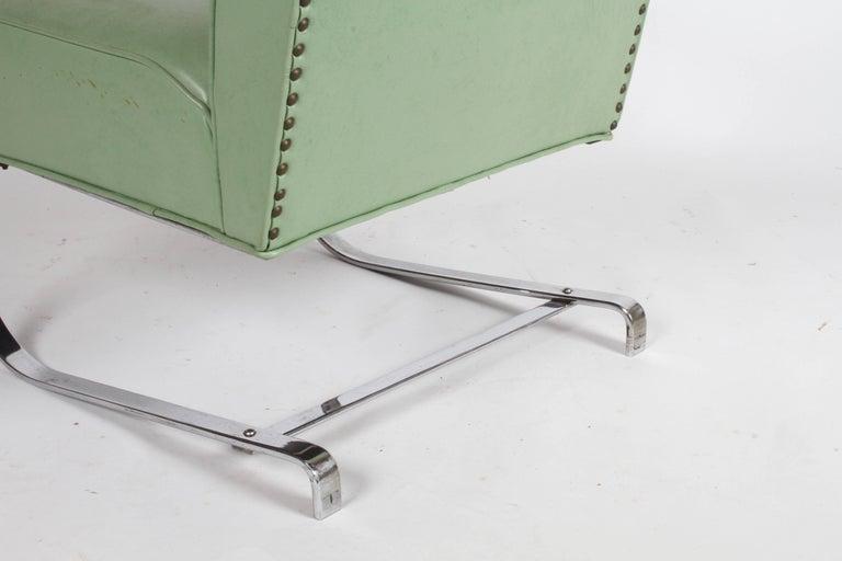 KEM Weber for Lloyd Art Deco Springer Lounge Chair For Sale 6
