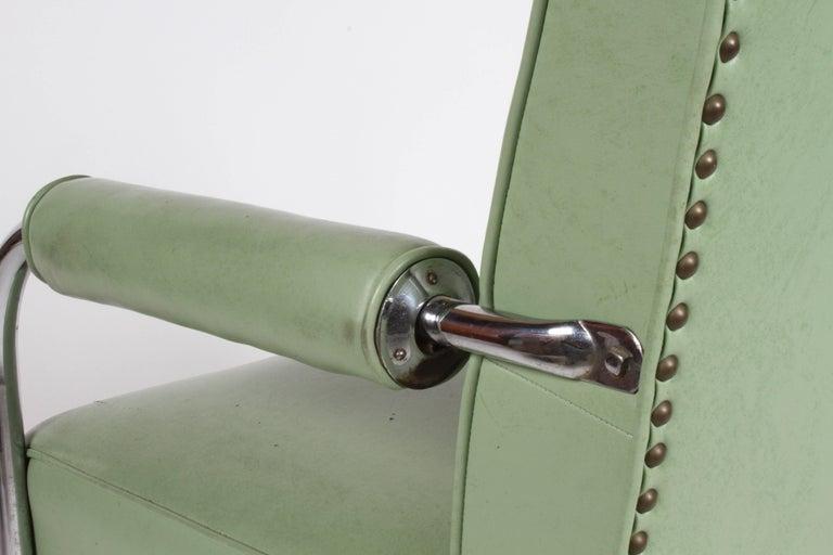 KEM Weber for Lloyd Art Deco Springer Lounge Chair For Sale 7